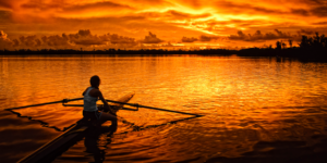 Outdoor Rowing Scenery