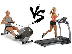Rowing Machine vs. Treadmill