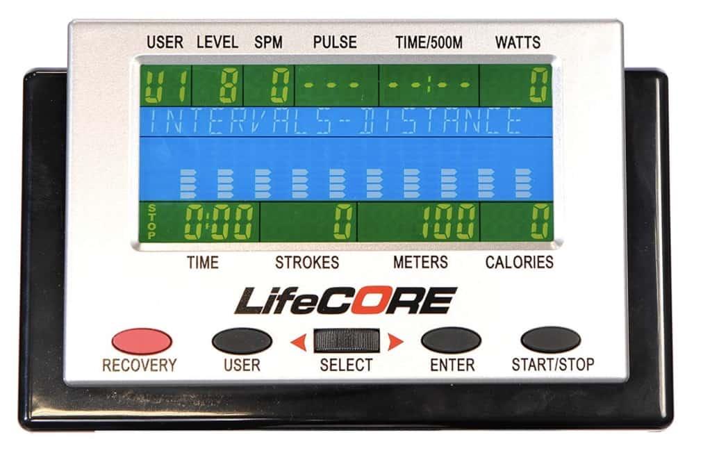 Lifecore R100 Rowing Machine Monitor