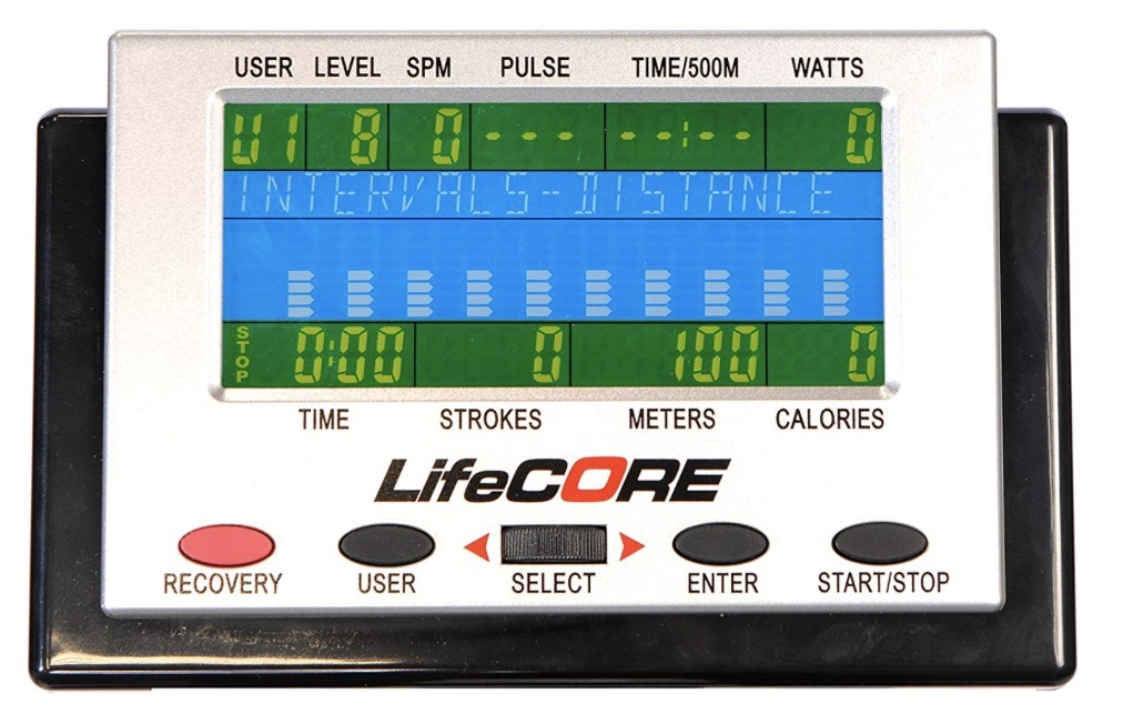 Lifecore R100 Rowing Machine Monitor
