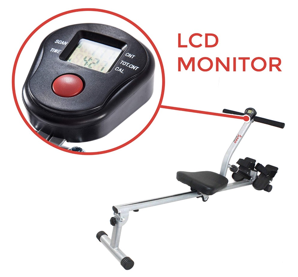 Sunny Health and Fitness Rowing Machine Monitor
