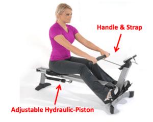 Stamina Avari Easy Glide Rower Resistance