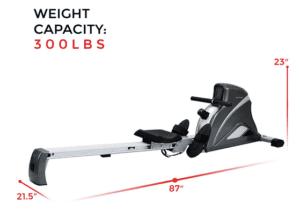 Sunny Health & Fitness SF-RW5508 Capacity