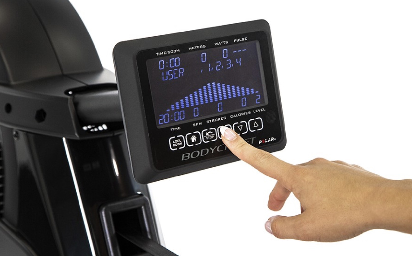 BodyCraft VR500 Commercial Rower Monitor