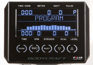 BodyCraft VR500 Rowing Machine Monitor