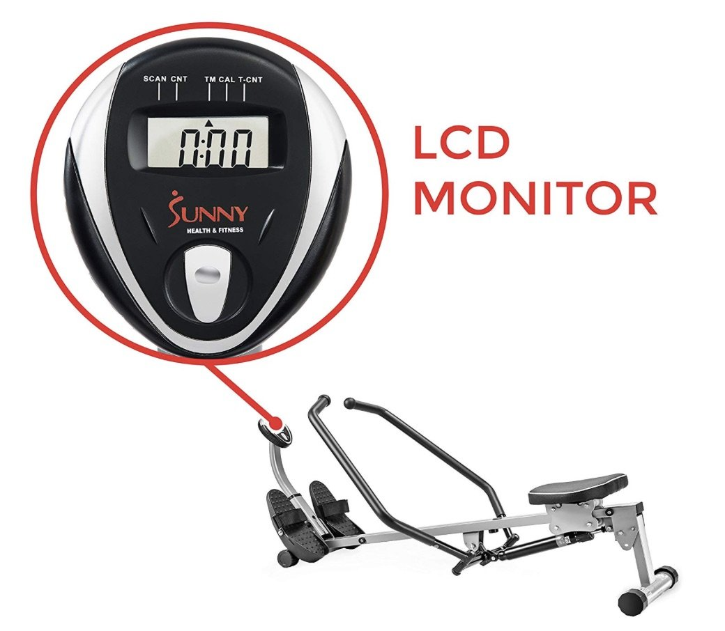 Sunny Health & Fitness SF-RW1410 Rowing Machine Monitor