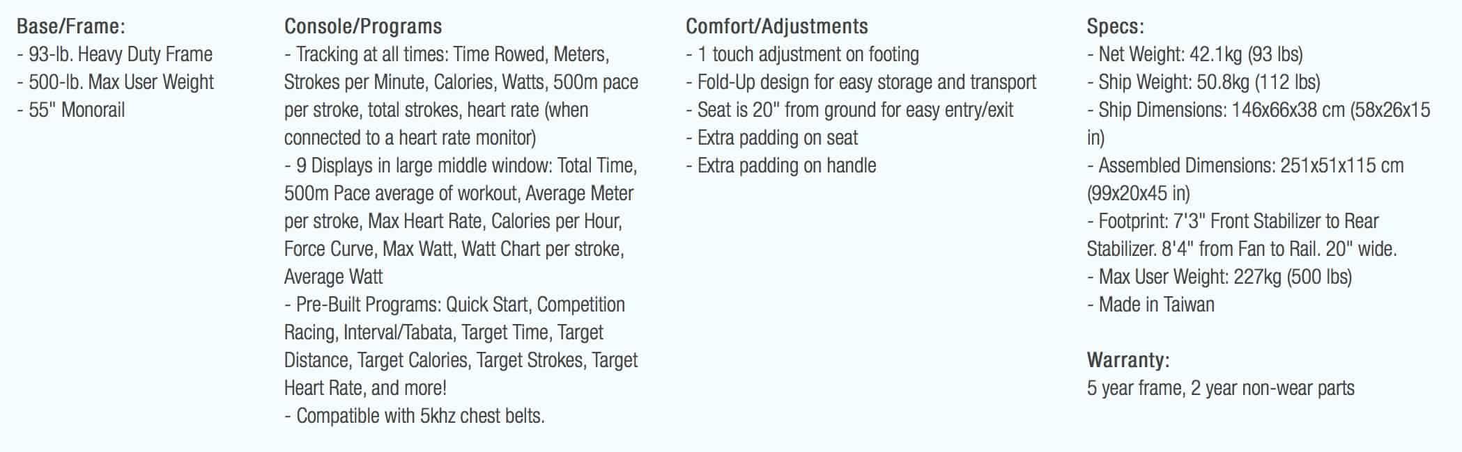 Xebex Air Rower 2.0 Description