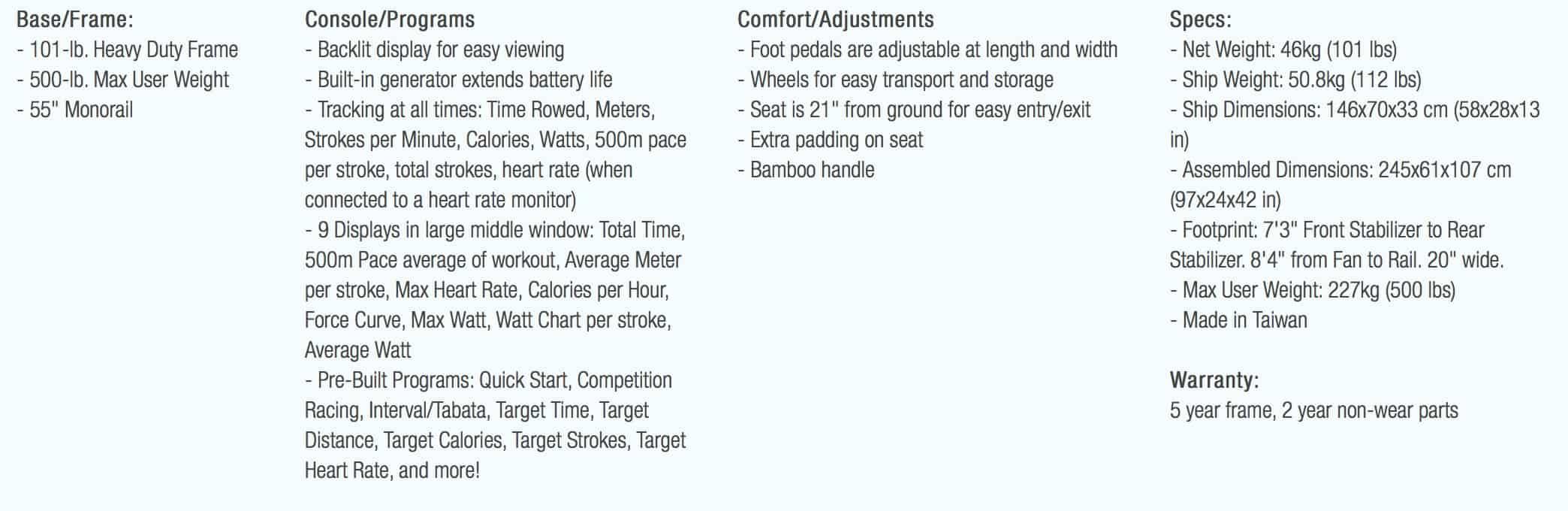 Xebex Air Rower 3.0 Description