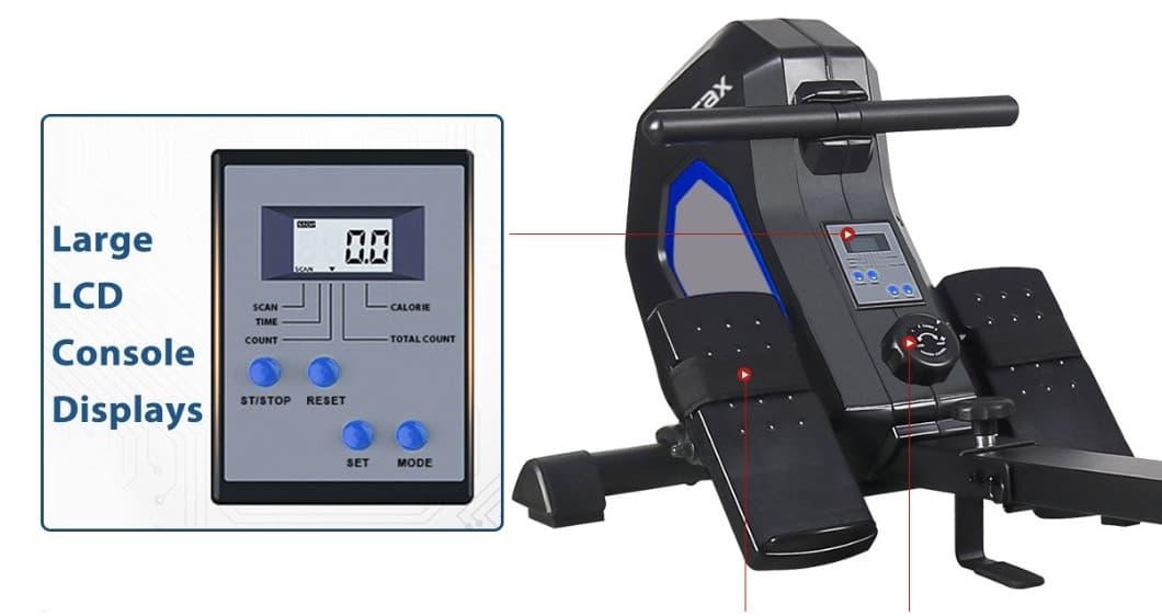 Merax Exercise Indoor Rower Monitor
