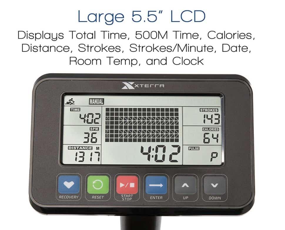 XTERRA Fitness ERG600W Water Rower Monitor