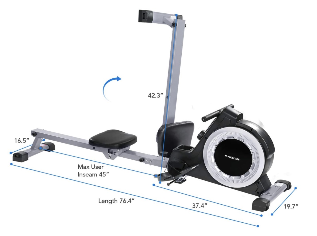 MaxKare Magnetic Rowing Machine Capacity