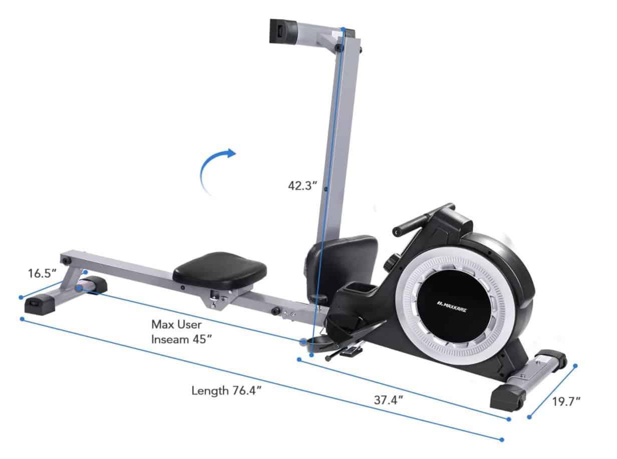 MaxKare Magnetic Rowing Machine Capacity