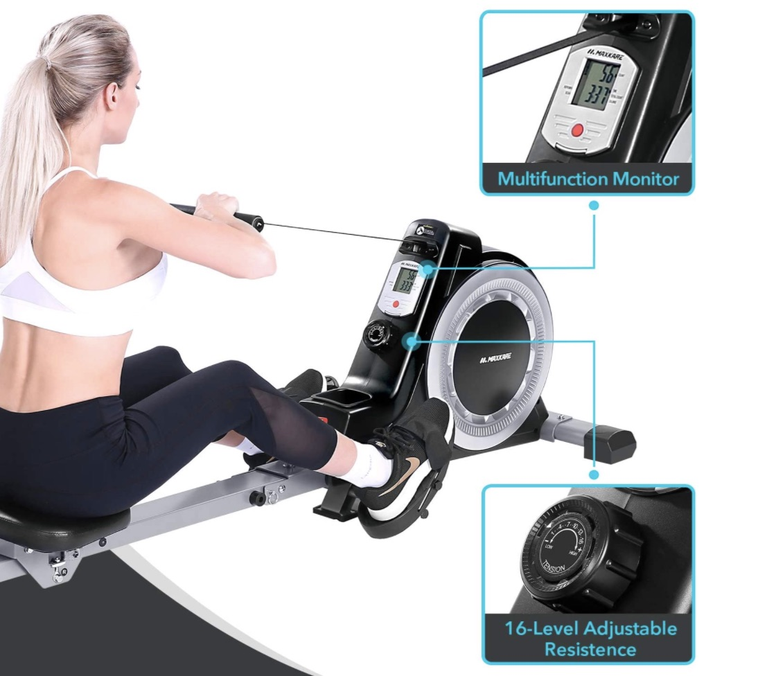 MaxKare Magnetic Rowing Machine Monitor