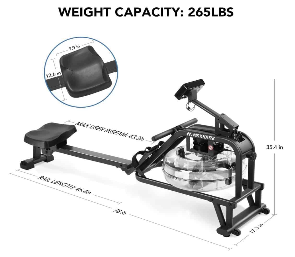 MaxKare Rower Capacity