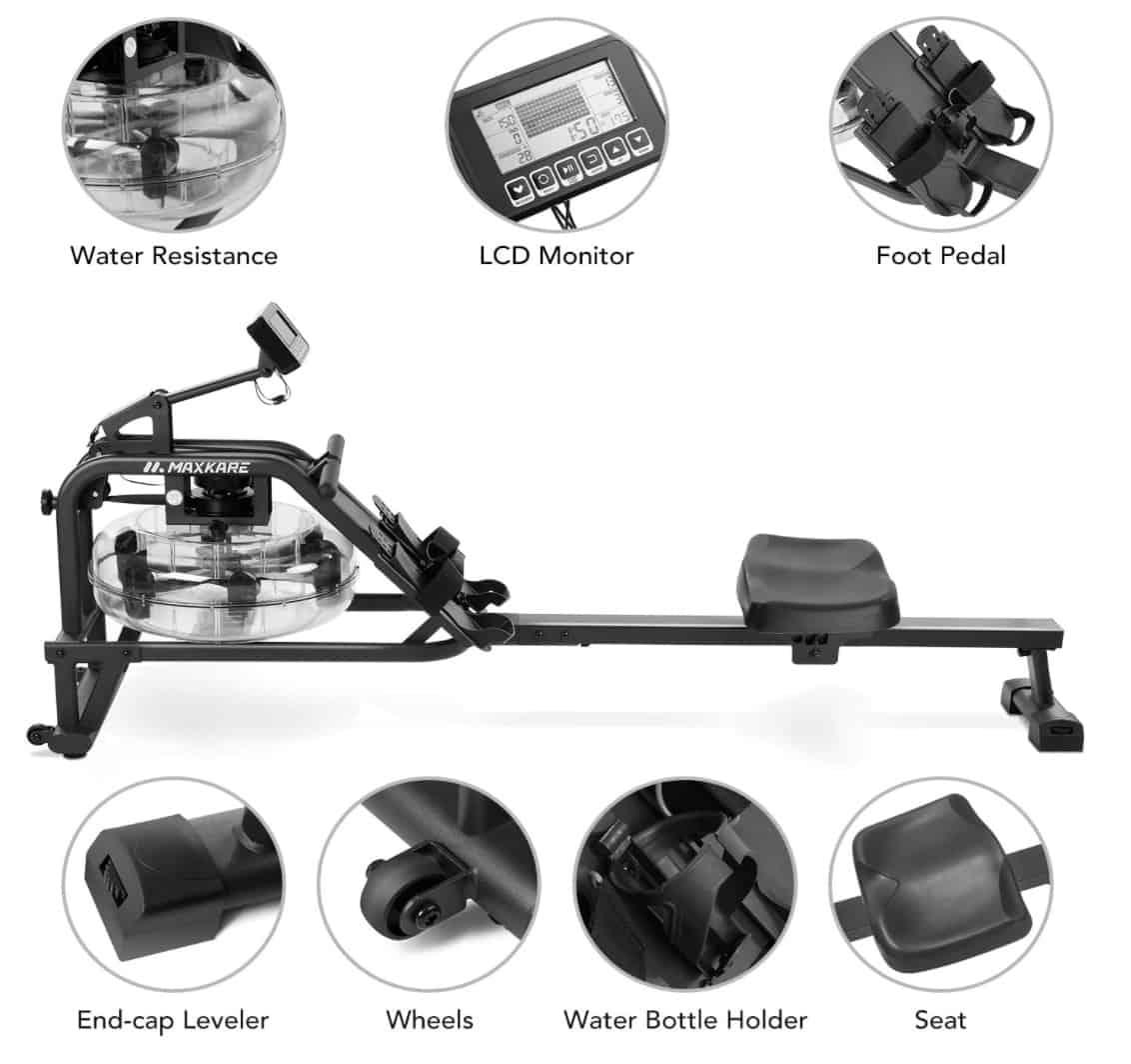 MaxKare Water Rower Comfort